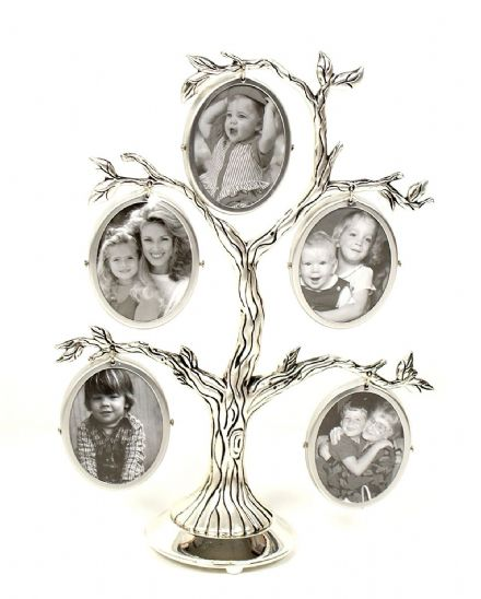 Family Tree Silver Coloured Photo Frames